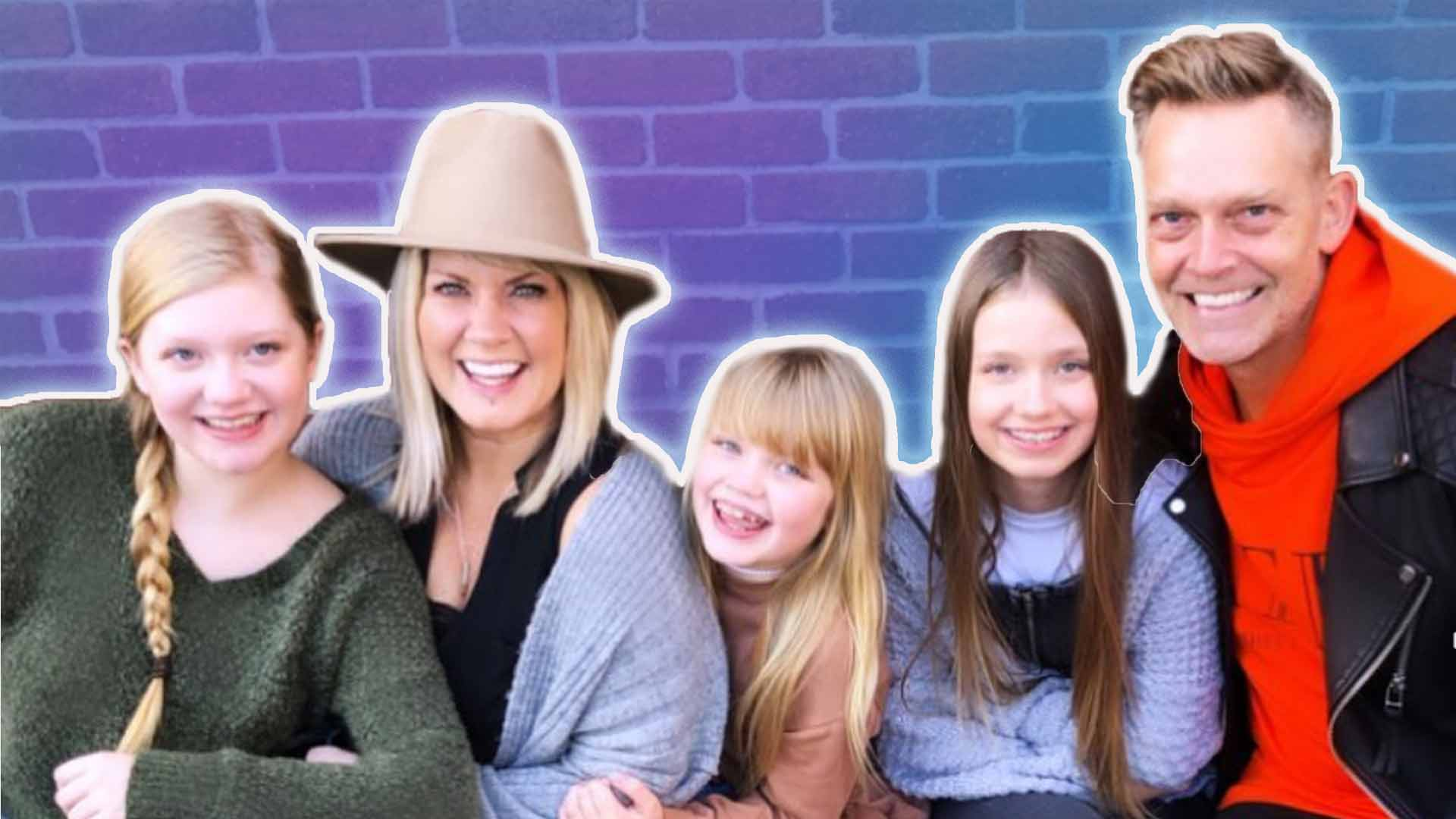 Natalie Grant with her 3 daughters and husband